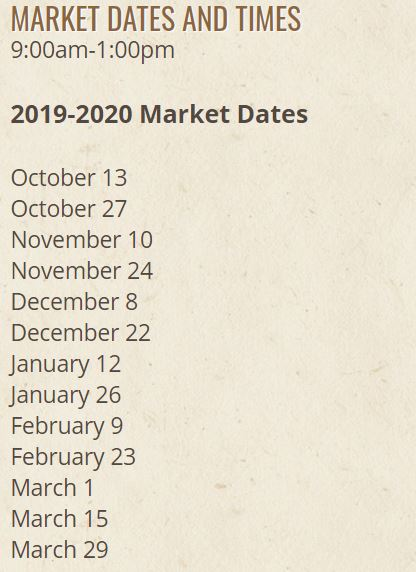 Coral Springs Farmers Market 2019 Dates